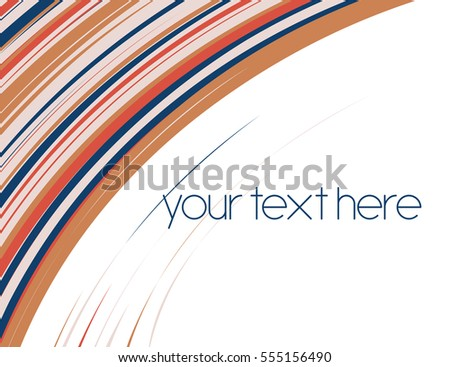 Abstract vector striped background card with place for text