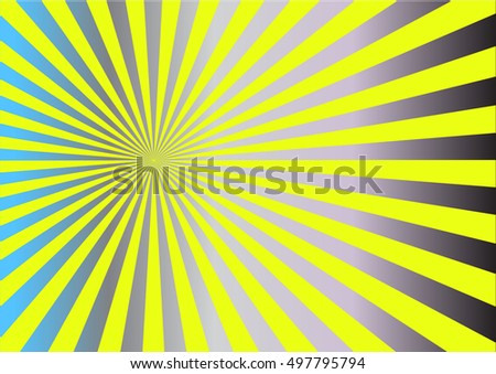 Abstract vector sunburst background with yellow  lines for sun effect and summer mood.vector illustration.