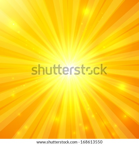 Abstract vector sunny background - stock vector
