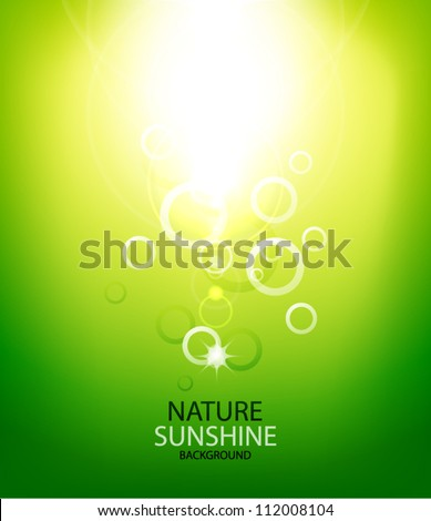Abstract vector sunshine background - stock vector