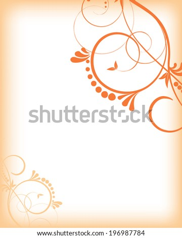 abstract vector swirl background