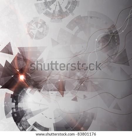 Abstract Vector Techno Background - stock vector