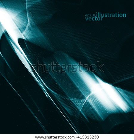 Abstract vector technology, shiny space background eps10 - stock vector