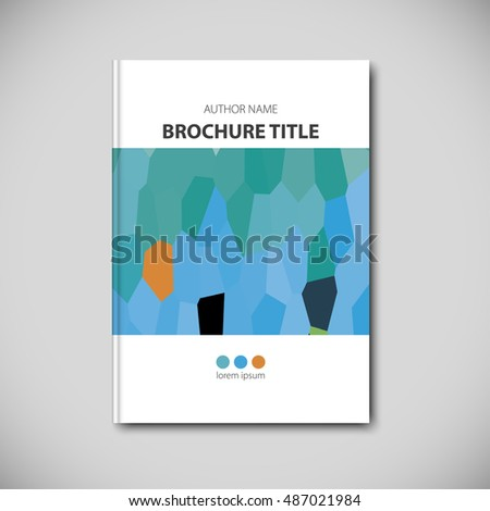 Abstract vector template layout for brochure, flyer, booklet, cover.
