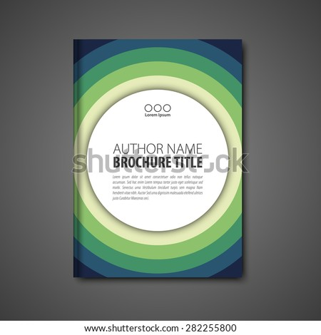 Abstract vector template layout for brochure, flyer, booklet, cover. Blue and green color version. - stock vector
