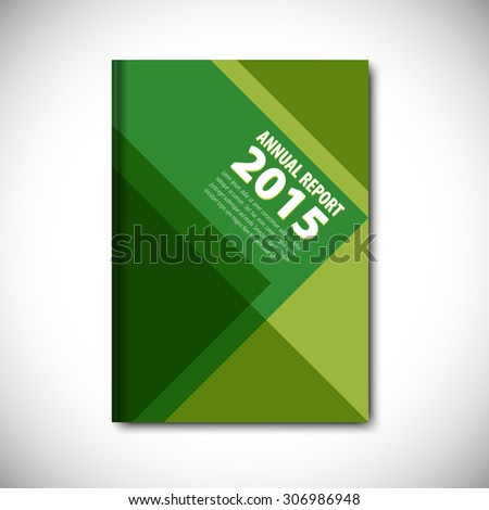 Abstract vector template layout for brochure, flyer, booklet, cover. Green color version. - stock vector