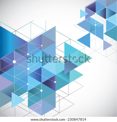 Abstract vector template. Modern design: web pages, flyers.