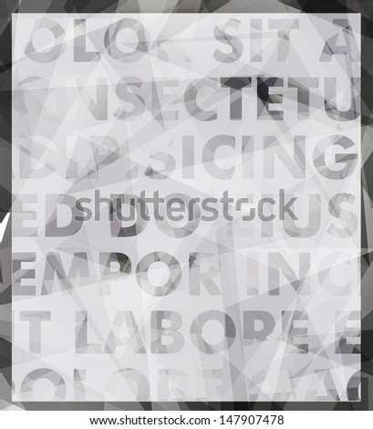 Abstract vector typography background - stock vector