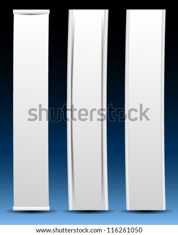 abstract vector vertical banners - stock vector