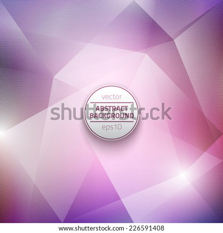 Abstract vector violet polygonal background with halftone texture. Vector business background. Technology vector background. Abstract vector art. Abstract vector illustration. - stock vector