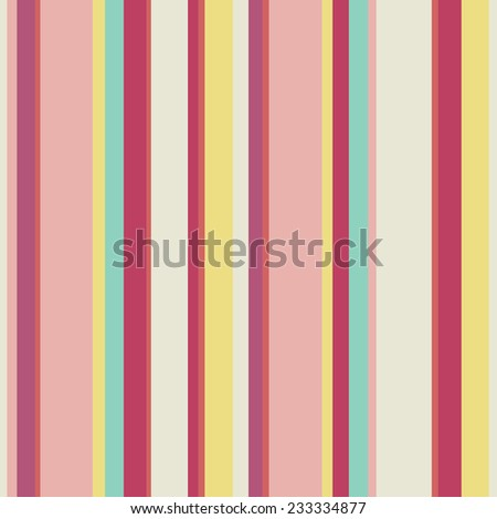 Abstract vector wallpaper with strips. Seamless colorful background with red, pink and yellow colors