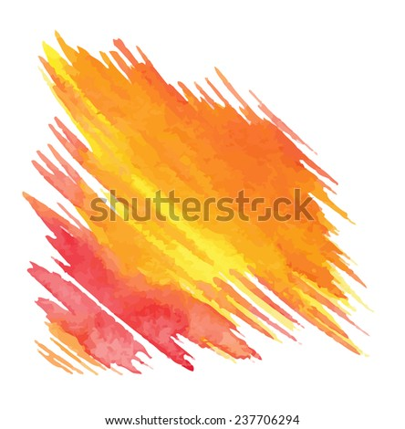 Abstract vector watercolor backgrounds  on  paper .Hand drawn  illustration.
