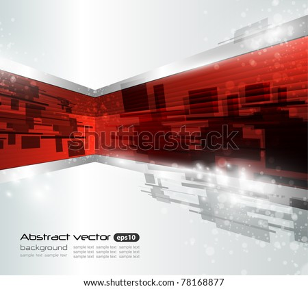 Abstract vector wave background - stock vector