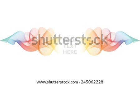 Abstract vector wave background/template - stock vector