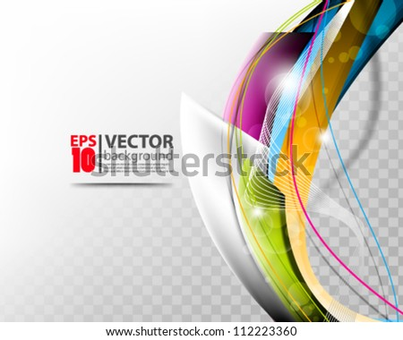 abstract vector wave design eps10 - stock vector