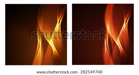 Abstract vector wave flame lines - stock vector