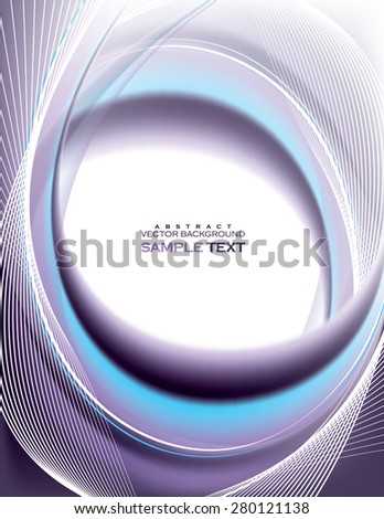 Abstract Vector Wavy Illustration. - stock vector