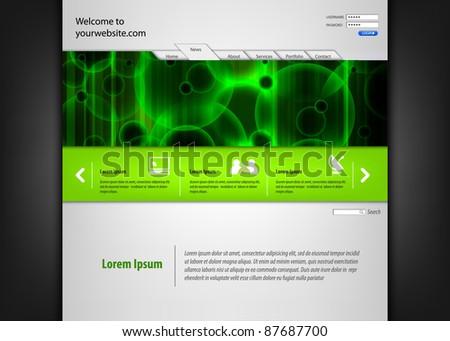 Abstract Vector Website Design - stock vector