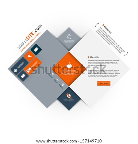 Abstract Vector website template design