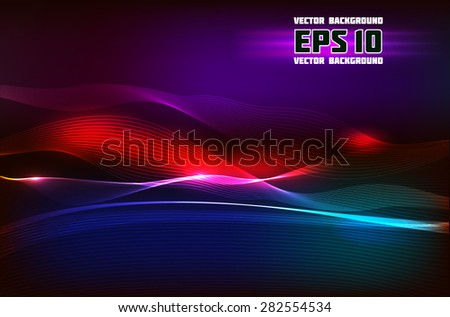 abstract vector with wave light music lines for your artwork and design - stock vector