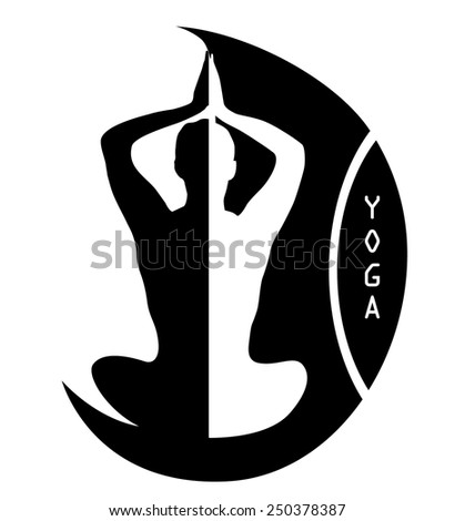 Abstract vector Yoga logo