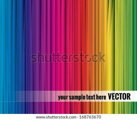 Abstract veil background with spectrum color, vector