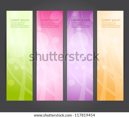 abstract vertical banner - stock vector