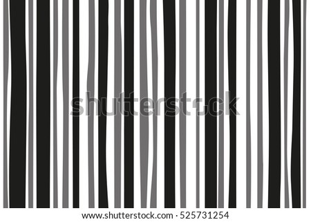 Abstract vertical black and white painted stripes, eps-8