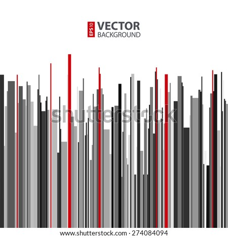 Abstract vertical infographics gray, black and red stripes background. RGB EPS 10 vector illustration - stock vector