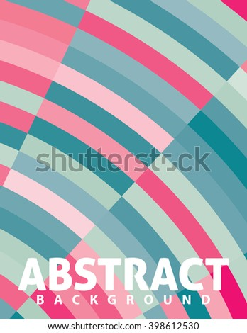 Abstract vertical retro background with blue and pink arcs. Simple vector graphic pattern. CMYK colors - stock vector