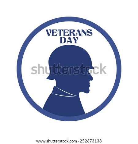 abstract veteran day object on a white background - stock vector