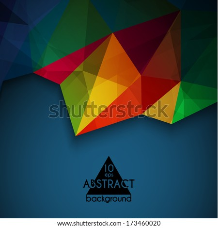 Abstract vibrant  triangles  geometric background - eps10 vector - stock vector