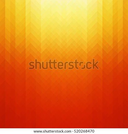 Abstract vibrant yellow and red color toned, geometric shapes background.
