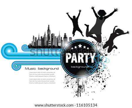 Abstract Vintage  Background for Party. - stock vector