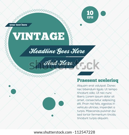 Abstract Vintage Background. Vector Illustration - stock vector
