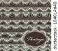 Abstract vintage background with lace - stock vector