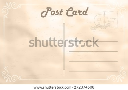 Abstract vintage blank paper postcard - vector illustration