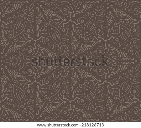 Abstract vintage brown seamless pattern