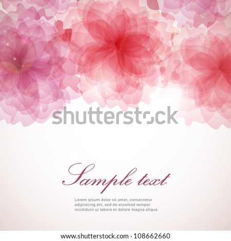 Abstract vintage colorful floral background - stock vector