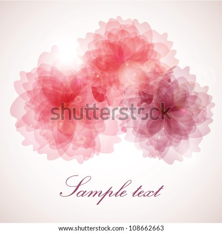 Abstract vintage colorful floral background