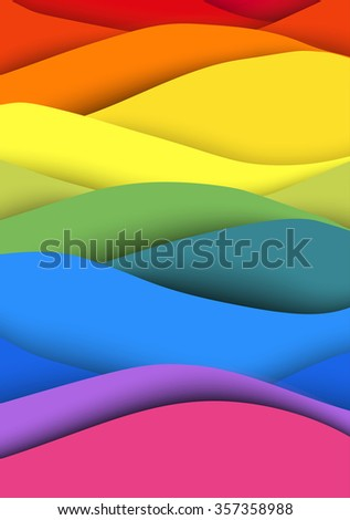Abstract vintage colorful waves background. Vector illustration - stock vector