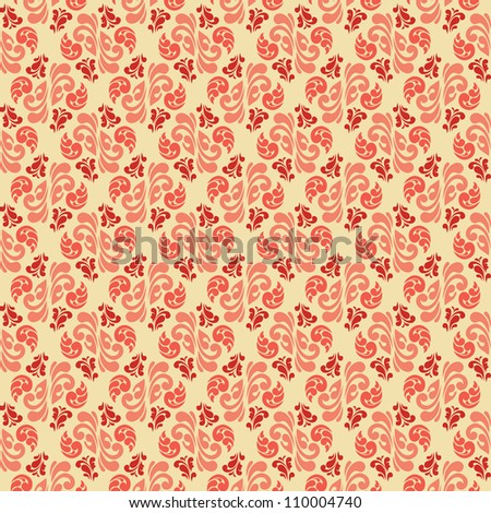 Abstract vintage damask seamless pattern. Design element