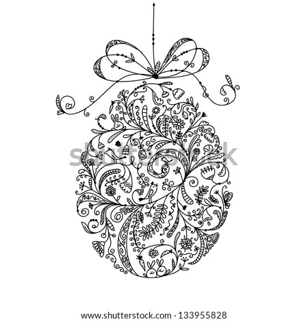 Abstract vintage easter egg for your design - stock vector