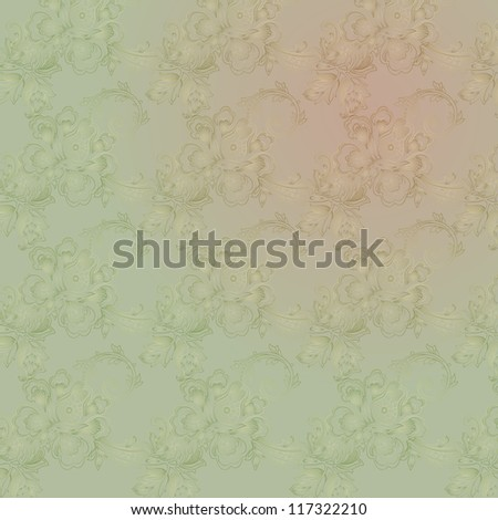 abstract vintage elegant vector background with a textile ornament - stock vector