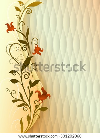 Abstract vintage flower vector background with copy space. - stock vector