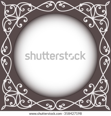 Abstract vintage frame vector templates with copy space. - stock vector