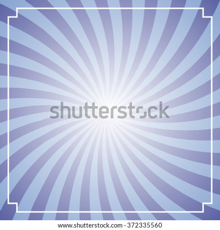 abstract vintage frame with twisted rays - stock vector