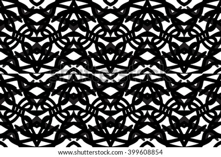 abstract vintage geometric wallpaper pattern seamless background. Vector illustration - stock vector
