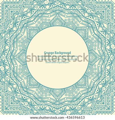 Abstract vintage indian banner. Vector illustration