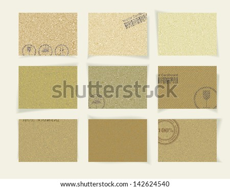 abstract vintage old paper banners / stickers / badges with print decorations - stock vector